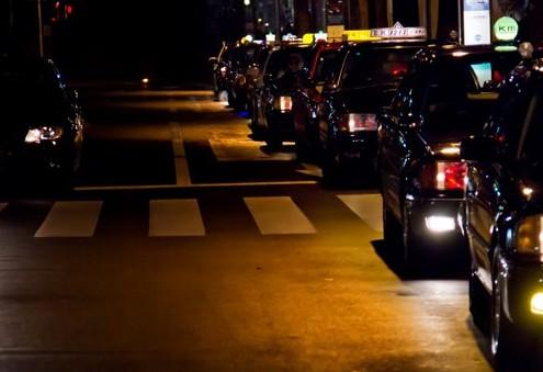 タクシー帰り